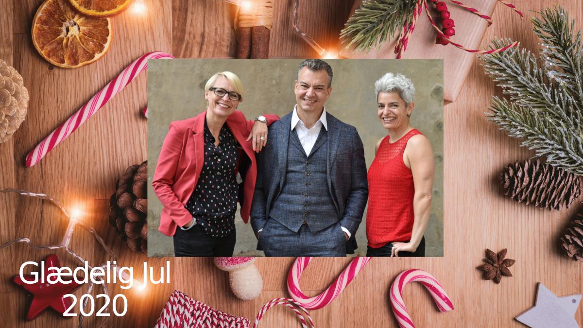 Glædelig jul 2020 fra Arlette, Alexander og Patricia
